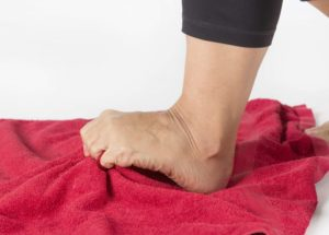 towel exercise for foot