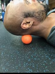 neck tension release with lacrosse ball