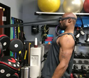 posterior banded neck exercise
