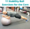 Stability Ball Exercises for the core